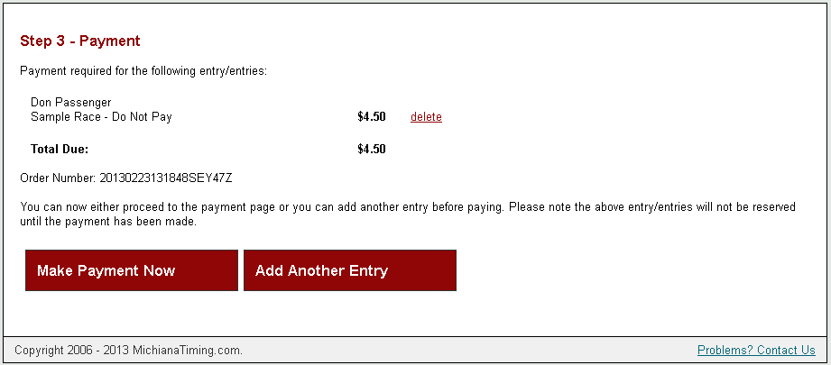 Payment Option in Registration
