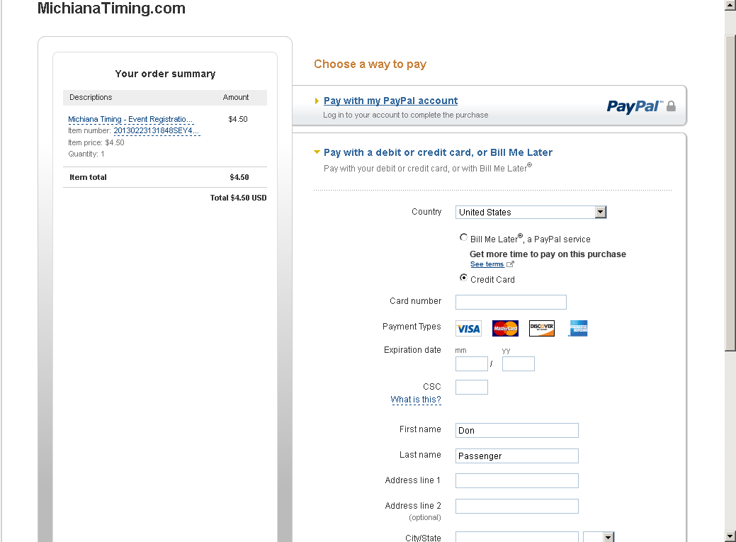 Use any acceptable form of payment -- you do not need to create a paypal account to check out.