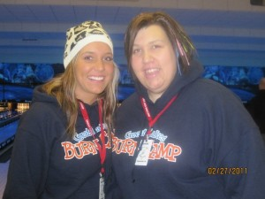 MichanaTiming Staff Member Brittany with Co-Counselor Cassie at Great Lakes Burn Camp Winter 2011